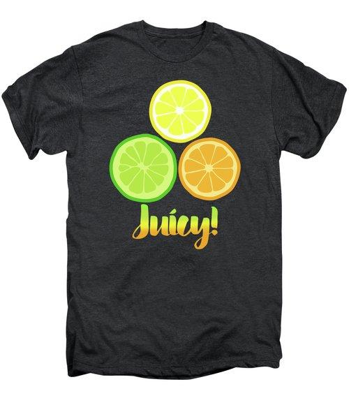 Fun Juicy Orange Lime Lemon Citrus Art Men's Premium T-Shirt by Tina Lavoie