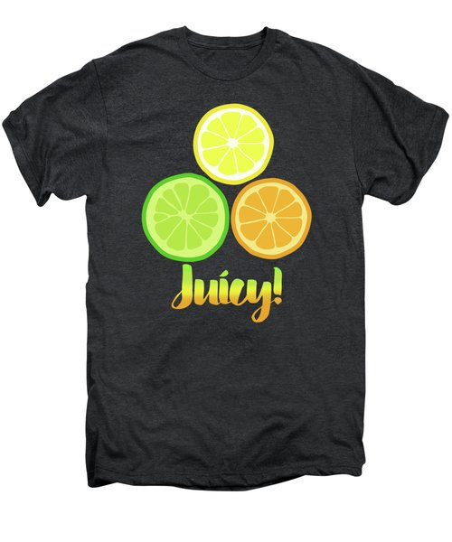 Fun Juicy Orange Lime Lemon Citrus Art Men's Premium T-Shirt