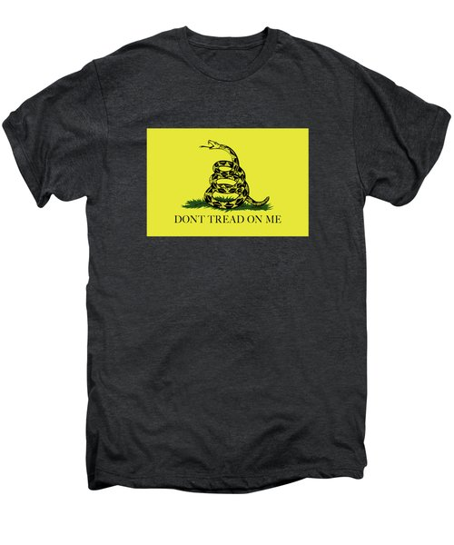Gadsden Dont Tread On Me Flag Authentic Version Men's Premium T-Shirt by Bruce Stanfield