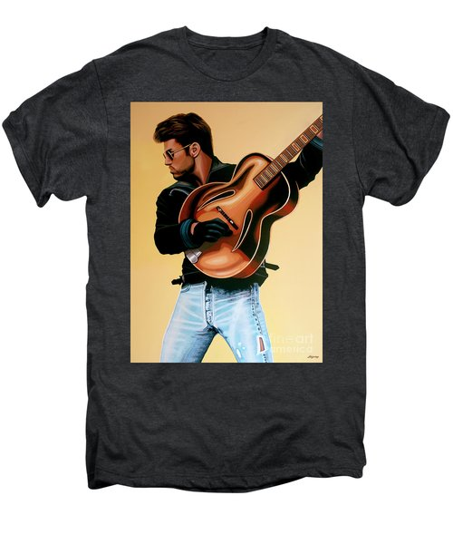 George Michael Painting Men's Premium T-Shirt by Paul Meijering
