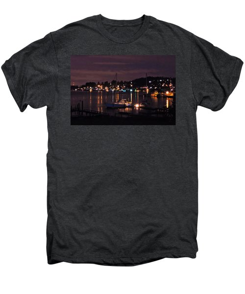 Gig Harbor At Night Men's Premium T-Shirt