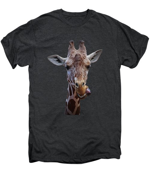 Giraffe Face Men's Premium T-Shirt by Ernie Echols