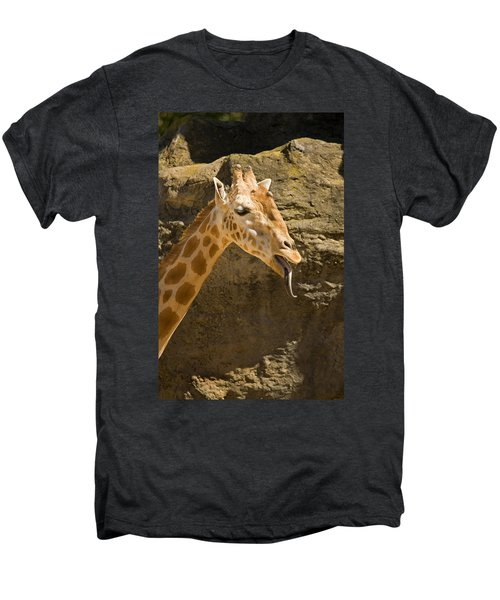 Giraffe Raspberry Men's Premium T-Shirt