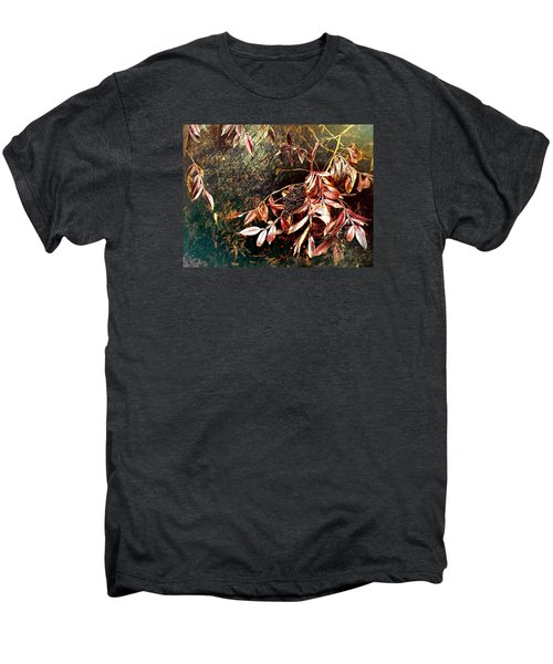 Glowing Sumac With Berries Men's Premium T-Shirt by Bellesouth Studio