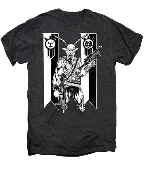 Goat War Black Men's Premium T-Shirt by Alaric Barca