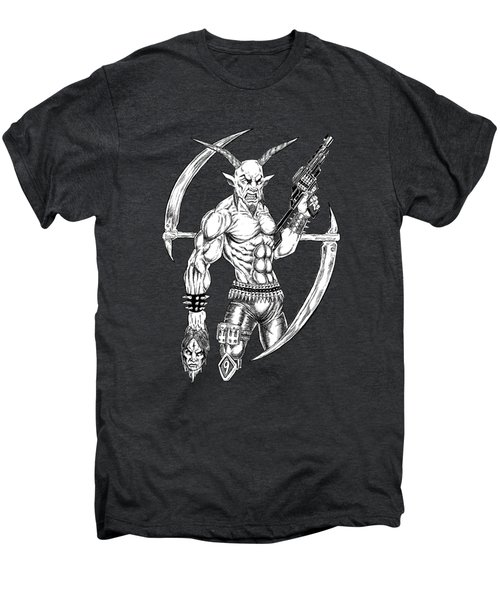 Goatlord Reaper Men's Premium T-Shirt by Alaric Barca