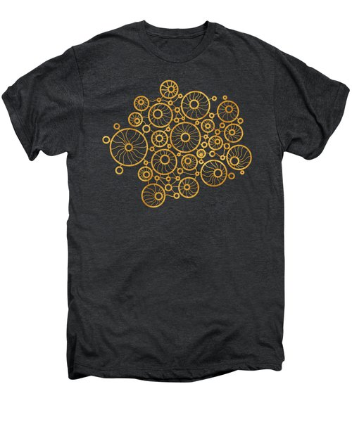 Golden Circles Black Men's Premium T-Shirt by Frank Tschakert