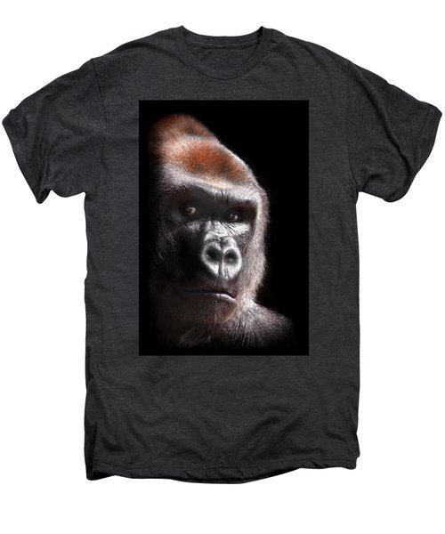Gorilla ... Kouillou Men's Premium T-Shirt by Stephie Butler