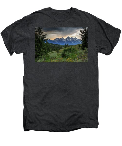 Men's Premium T-Shirt featuring the photograph Grand Stormy Sunset by David Chandler