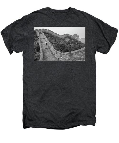Men's Premium T-Shirt featuring the photograph Great Wall 9, Jinshanling, 2016 by Hitendra SINKAR