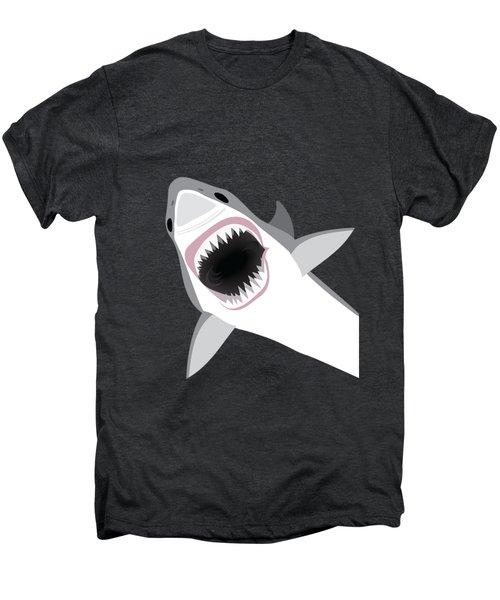 Great White Shark Men's Premium T-Shirt by Antique Images