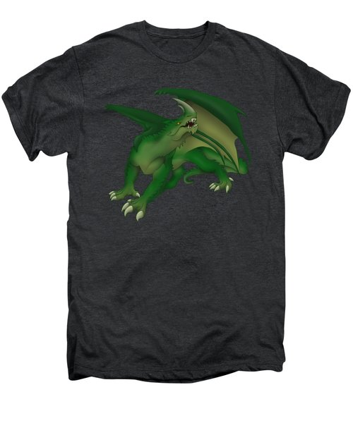 Green Dragon Men's Premium T-Shirt by Gaynore Craps