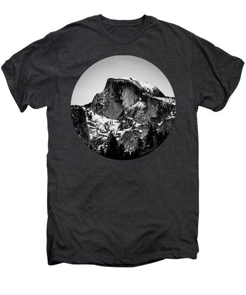 Half Dome Aglow, Black And White Men's Premium T-Shirt by Adam Morsa