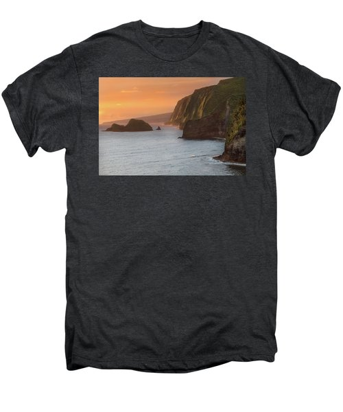 Hawaii Sunrise At The Pololu Valley Lookout 2 Men's Premium T-Shirt by Larry Marshall