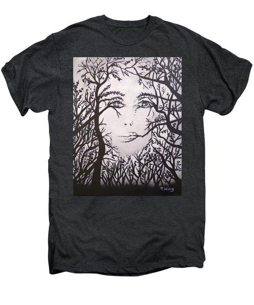 Hidden Face Men's Premium T-Shirt by Teresa Wing