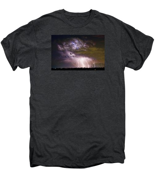 Highway 52 Storm Cell - Two And Half Minutes Lightning Strikes Men's Premium T-Shirt