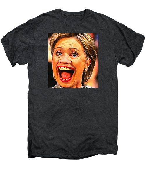 Hillary Clinton Men's Premium T-Shirt by Anthony Caruso