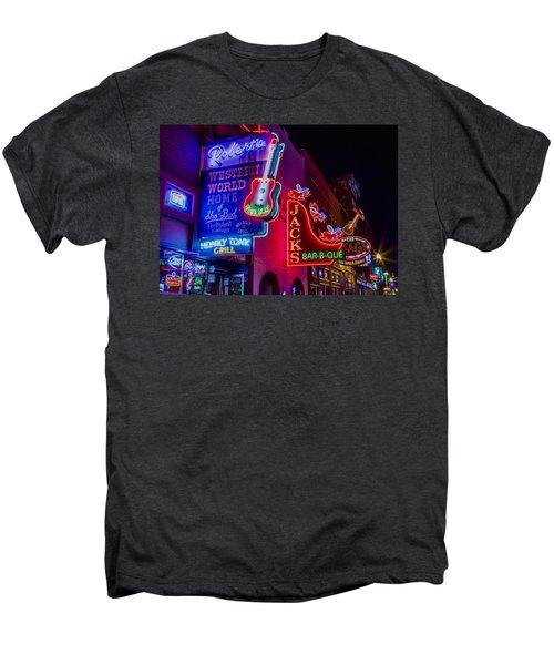 Honky Tonk Broadway Men's Premium T-Shirt by Stephen Stookey