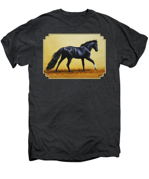 Horse Painting - Black Beauty Men's Premium T-Shirt