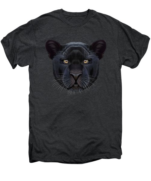 Illustrated Portrait Of Black Panther.  Men's Premium T-Shirt