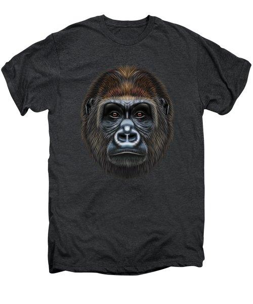 Illustrated Portrait Of Gorilla Male. Men's Premium T-Shirt