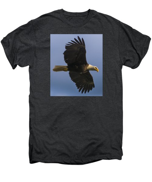 Men's Premium T-Shirt featuring the photograph In Flight by Gary Lengyel