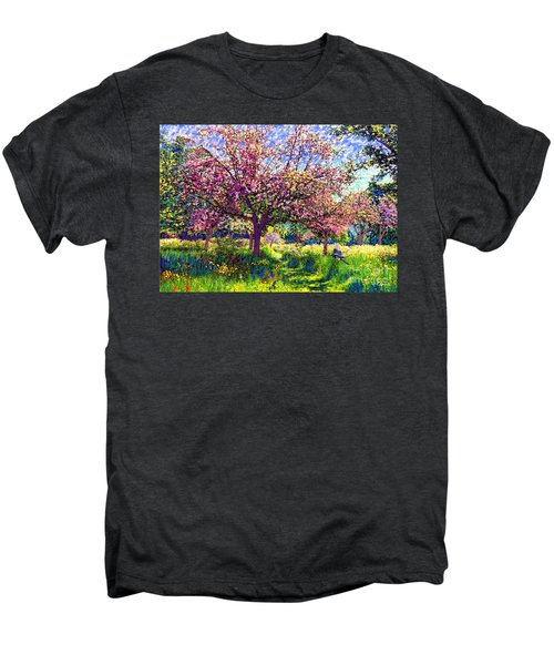 In Love With Spring, Blossom Trees Men's Premium T-Shirt by Jane Small