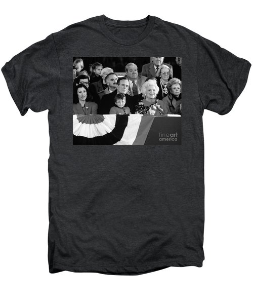 Inauguration Of George Bush Sr Men's Premium T-Shirt by H. Armstrong Roberts/ClassicStock