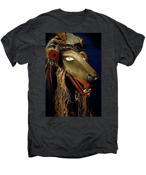 Indian Animal Mask Men's Premium T-Shirt by LeeAnn McLaneGoetz McLaneGoetzStudioLLCcom