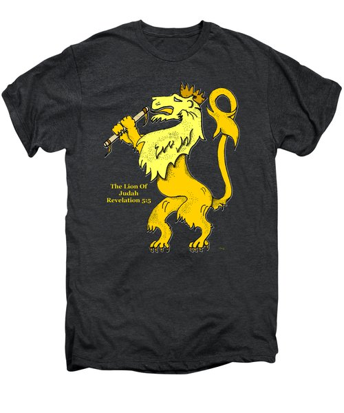 Inspirational - The Lion Of Judah Men's Premium T-Shirt by Glenn McCarthy Art and Photography