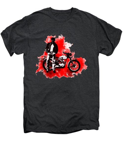 James Dean And Triumph Men's Premium T-Shirt