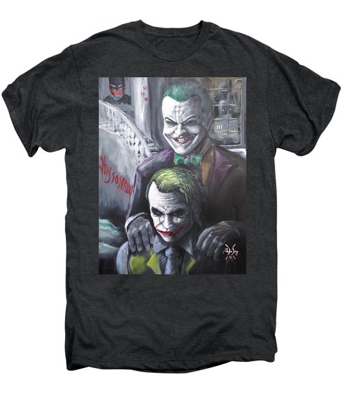 Jokery In Wayne Manor Men's Premium T-Shirt by Tyler Haddox