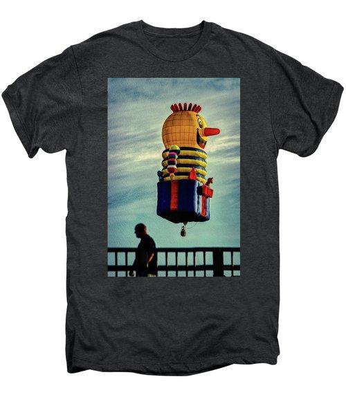 Just Passing Through  Hot Air Balloon Men's Premium T-Shirt by Bob Orsillo