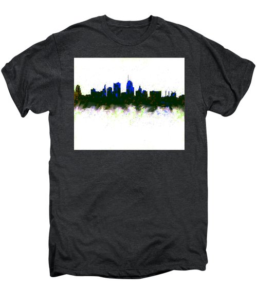 Kansas City Skyline Blue  Men's Premium T-Shirt