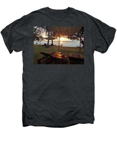 Kenyan African Beach Sunrise 2 Men's Premium T-Shirt