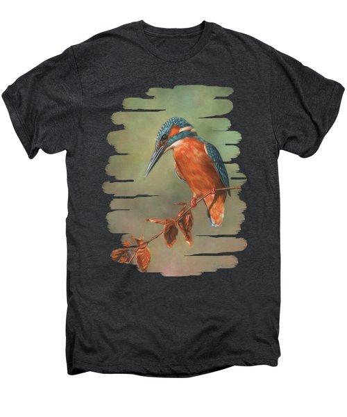 Kingfisher Perched Men's Premium T-Shirt