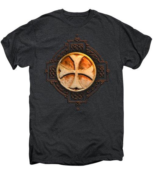 Knights Templar Symbol Re-imagined By Pierre Blanchard Men's Premium T-Shirt by Pierre Blanchard