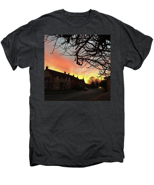 Last Night's Sunset From Our Cottage Men's Premium T-Shirt