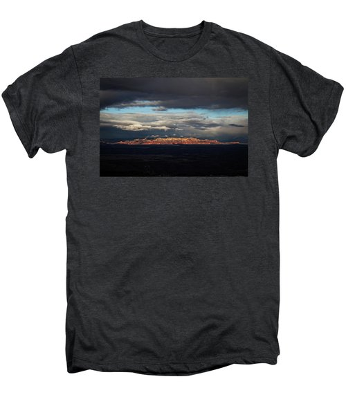 Late Light On Red Rocks With Storm Clouds Men's Premium T-Shirt