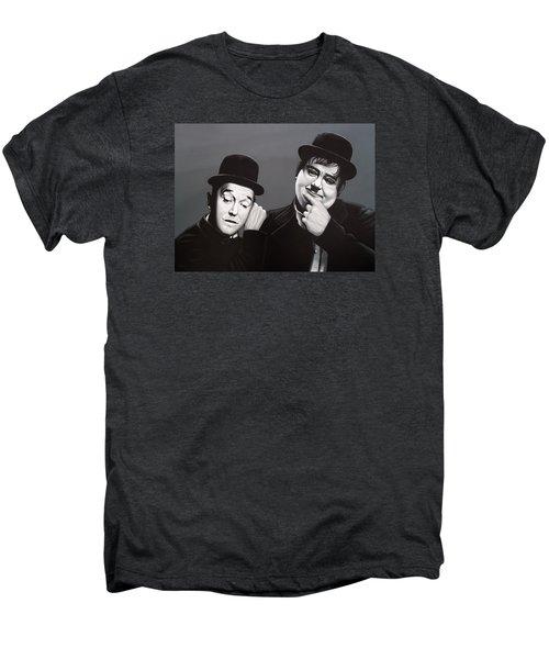 Laurel And Hardy Men's Premium T-Shirt