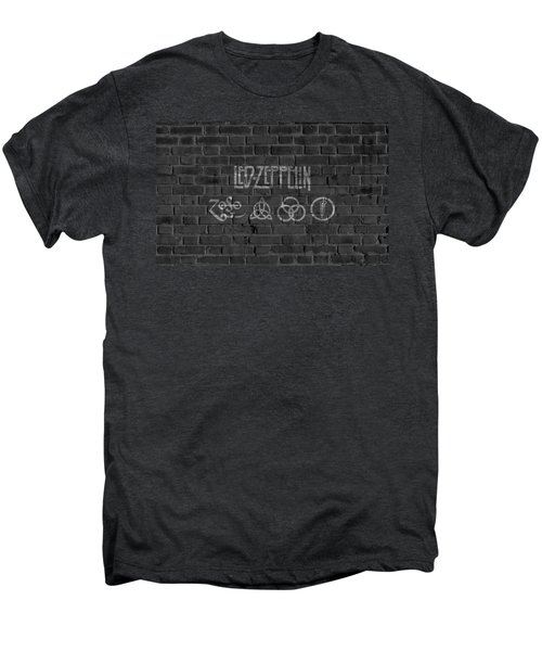 Led Zeppelin Brick Wall Men's Premium T-Shirt by Dan Sproul