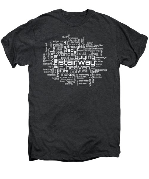 Led Zeppelin - Stairway To Heaven Lyrical Cloud Men's Premium T-Shirt by Susan Maxwell Schmidt