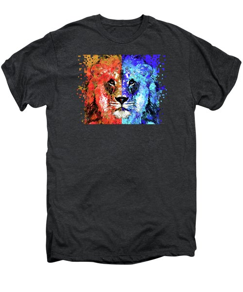 Lion Art - Majesty - Sharon Cummings Men's Premium T-Shirt