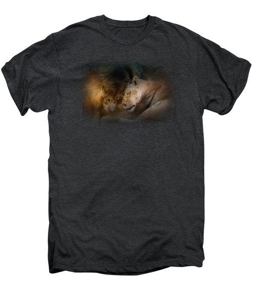Lion Love Men's Premium T-Shirt by Jai Johnson