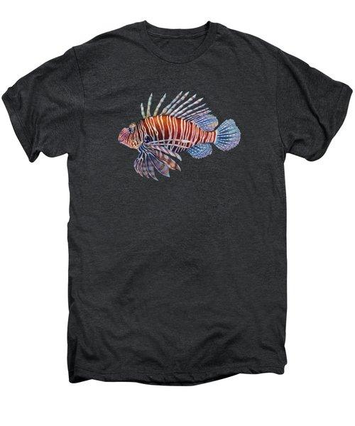Lionfish In Black Men's Premium T-Shirt by Hailey E Herrera
