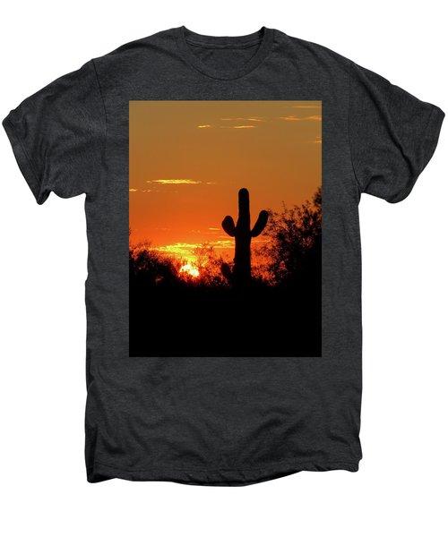 Lone Saguaro Sunrise Men's Premium T-Shirt