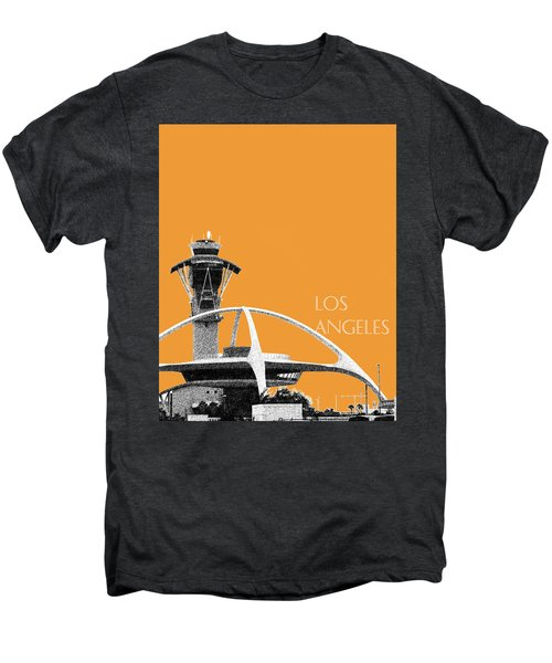 Los Angeles Skyline Lax Spider - Orange Men's Premium T-Shirt by DB Artist