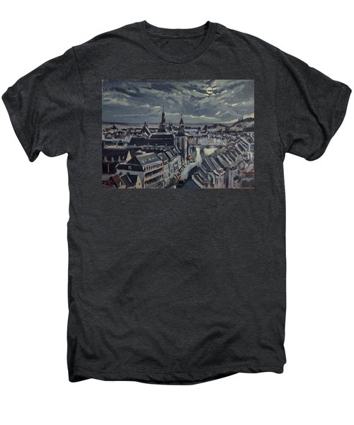 Maastricht By Moon Light Men's Premium T-Shirt by Nop Briex