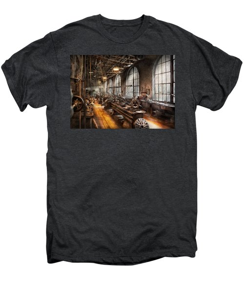 Machinist - A Room Full Of Lathes  Men's Premium T-Shirt