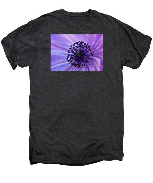 Macro Of Lavender Purple Anemone Men's Premium T-Shirt